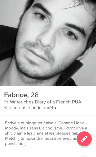 exemple description tinder