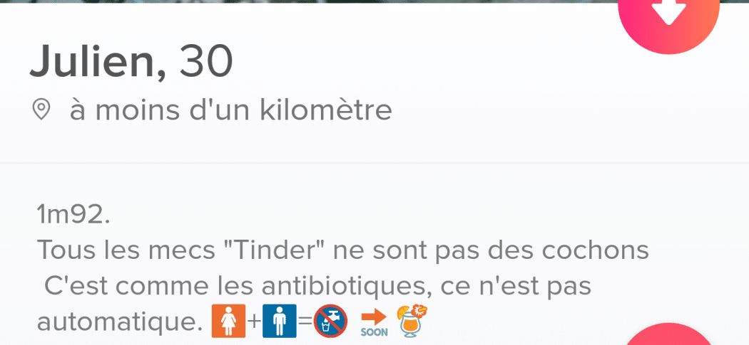 description tinder originale