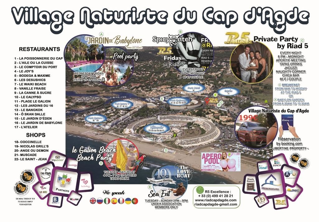 plan village naturiste cap agde