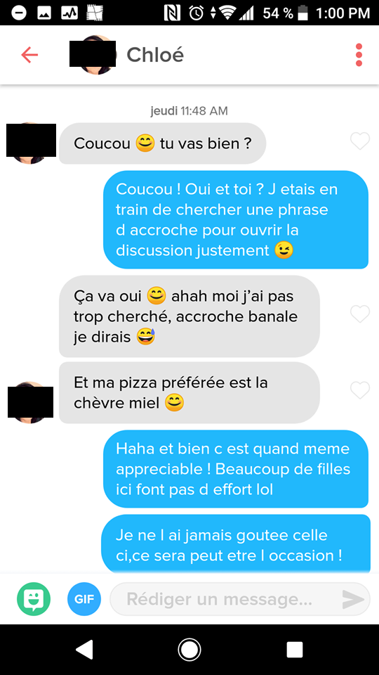fille demarre conversation