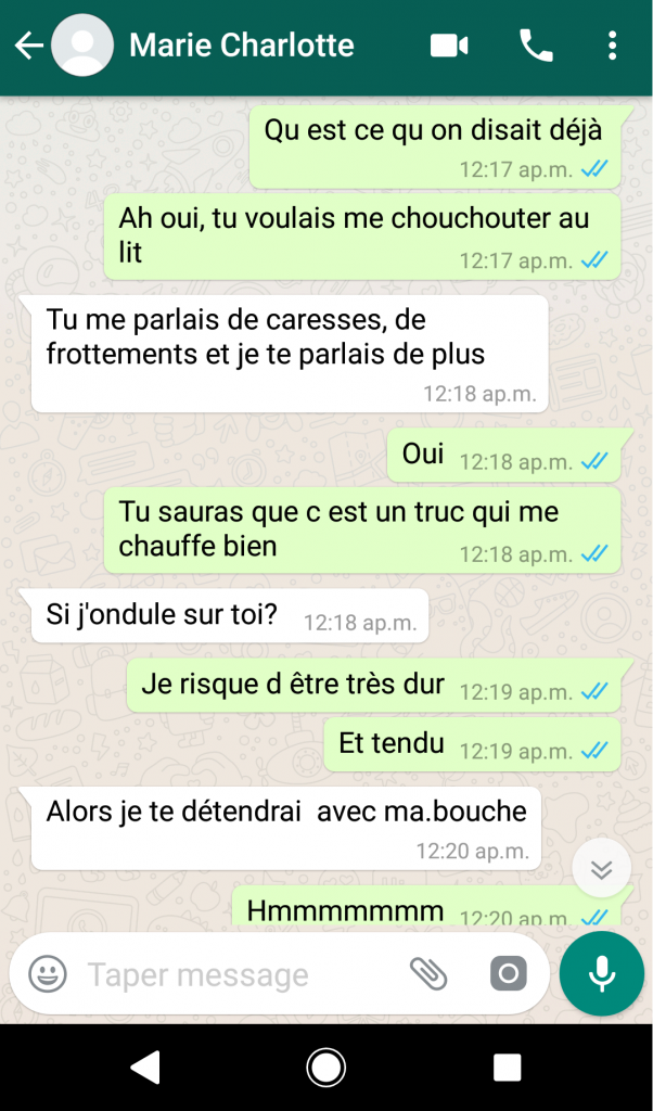 sexualisation sms