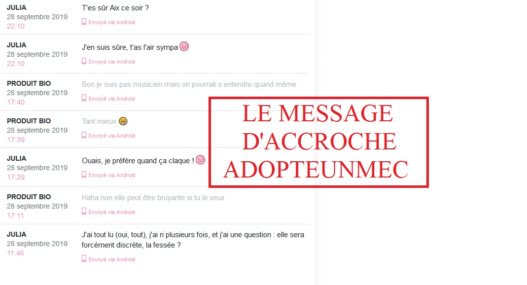 message accroche adopte